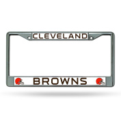 NFL Cleveland Browns Chrome Licence Plate Frame,30cm by 15cm ,Silver