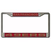 NFL San Francisco 49ers Chrome Laser Licence Plate Frame