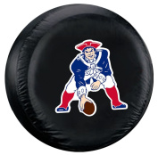 New England Patriots Black Throwback Design Tyre Cover - Standard Size