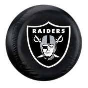 Oakland Raiders Black Tyre Cover - Size Large