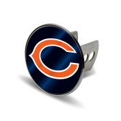 NFL Chicago Bears Laser Cut Metal Hitch Cover, Large, Silver