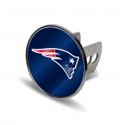 NFL New England Patriots Laser Cut Metal Hitch Cover, Large, Silver