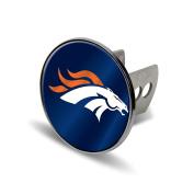 NFL Denver Broncos Laser Cut Metal Hitch Cover, Large, Silver