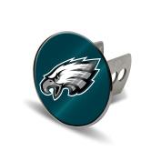 NFL Philadelphia Eagles Laser Cut Metal Hitch Cover, Large, Silver
