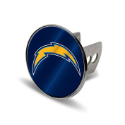 NFL San Diego Chargers Laser Cut Metal Hitch Cover, Large, Silver