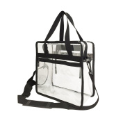 Clear Tote Bag Compliant with NFL & PGA Stadium Security Approved- 30cm x 30cm x 15cm - Sturdy PVC Transparent Bag