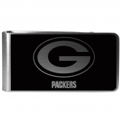 NFL Green Bay Packers Black & Steel Money Clip