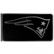 NFL New England Patriots Black & Steel Money Clip