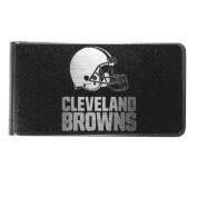 NFL Cleveland Browns Black & Steel Money Clip