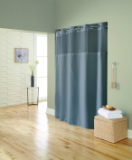 Hookless RBH72MY890 Mystery Frost Grey Mini Squares Curtain