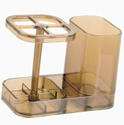 InterDesign Med+ Bathroom Toothbrush and Toothpaste Stand/Holder and Medicine Cabinet Organiser, - Sand