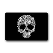 CozyBath Sugar Skull Non-woven Fabric 60cm (L) x 40cm (W)Machine-washable Indoor/Outdoor/Shower/Bathroom Doormat