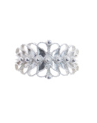 Sterling Silver Campidanese Pierced Ring 1 Row