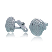 Sterling Silver Clam Sea Shell Cufflinks Gift Boxed by Aquamarine Jewellery
