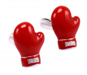 Boxing Gloves Red Glove Cufflinks Male and Female French Personality Cuffs Nail