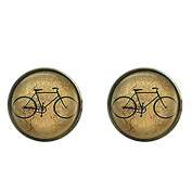 Retro Bike Cufflinks,Bicycle Men Cuff links,Sport Picture Tie Bar,Gift for Men