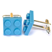 LEGO ® Plate Cufflinks (LIGHT BLUE) Wedding, Groom, Mens Gift