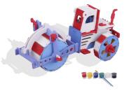 3D Wooden Puzzle, ESOOR Woodcraft 3D Puzzle Assemble and Paint DIY Toy Kit, Compactor