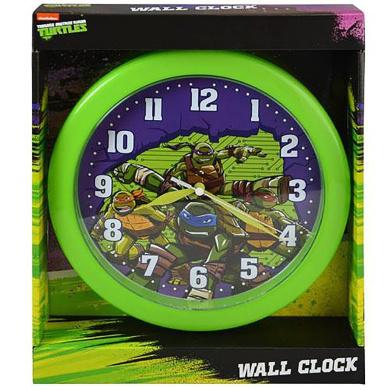 TMNT 25cm Wall Clock in an Open Window Box