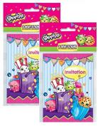Shopkins Invitations Pack (16)