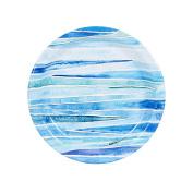 Coastal Watercolour Sea Wave Stripe Party Supplies Dessert Plate