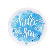 Coastal Watercolour Hello Sea Party Supplies Dessert Plate