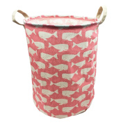 Mziart Large Collapsible Laundry Hamper Bucket Waterproof Fabric Storage Basket Nursery Baby Laundry Basket for Kids Toys Clothes