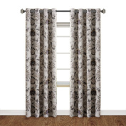 H.Versailtex Thermal Insulated Extra Long Curtains-270cm Length-Vintage Floral in Sage and Brown
