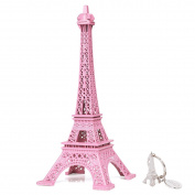 SiCoHome Eiffel Tower Decor,18cm Pink Paris Souvenir Figurine Replica Centrepiece,for Gifts,Party and Home Decoration