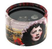 Paperweight musical box made of reinforced cardboard covered with decorated paper - La vie en rose