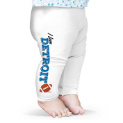 Twisted Envy I Love Detroit American Football Baby Funny Leggings Trousers