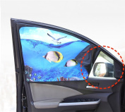 SUAIBEI Car Sun Shade for Baby(4 Pack), Sunshades for Side Windows with Patterns to Block Sunlight, UV Rays and Reduce Heat
