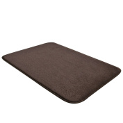 Jiyaru Welcome Doormat Bathroom Mat Water Absorption Rug Home Indoor Carpet Brown 40x60cm