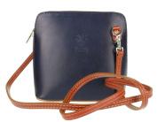 Women's Genuine Italian Real Leather Small Mini Classic Cross Body bag or Messenger Bag