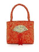 Chinese Red Silk Bag Orange