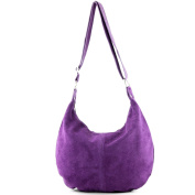 Italian handbag shoulder bag shopper Women's bag real suede leather bag T02