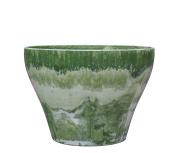 GCD-Austram Lorie Marble Planter, Jade Green