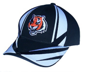 Cincinnati Bengals Hook and loop Adjustable One Size Fits All Hat - Black & White Cap
