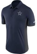 Dallas Cowboys Nike Dri Fit Navy Evergreen Polo
