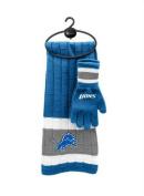 NFL Detroit Lions Scarf & Gloves Gift Set