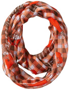 NFL Cleveland Browns New Logo Sheer Infinity Plaid Scarf, One Size, Brown