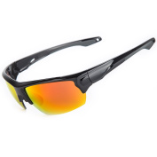 Shieldo Polarised Sports Sunglasses For Men And Women Running Cycling Fishing, Mirrored Integrated Polarised Lens Unbreakable Frame SDH001