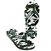NFL New York Jets Men's Contour Flip Flop, X-Large, Green/Camouflage