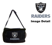 Oakland Raiders NFL Team Logo 6-Sports Drink Beer Water Soda Beverage Can Insulated Picnic Outdoor Party Beach BBQ Kooler Cooler Lunch Bag Tote - 6-Pack Bag