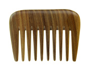 Meta-C Portable Hair/Beard Comb/Pick – Made Of One Whole Piece Of Natural Green Sandal Wood With Fragrant Scent