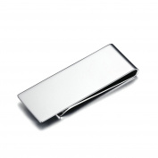 Stainless Steel Money Clip for Men Boy Cash Holder High Polished Smooth Silver 59MMx22MM Onefeart