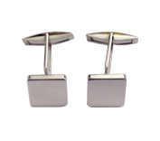 925 Sterling Silver Square Cufflinks