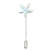 Fine Pewter Starfish Lapel Pin, Handcast By William Sturt