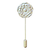 Fine Pewter Yorkshire Rose Lapel Pin, Handcast By William Sturt