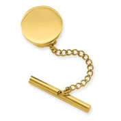 Gold-plated Round Polished Tie Tack